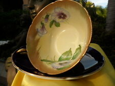 SHELLEY  COLBALT BLUE  PANSY    *   GAINSBOROUGH  *    CUP AND SAUCER   # 13861