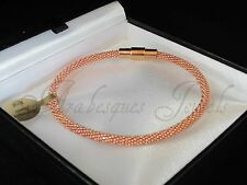 GENUINE AJ POPCORN/BUBBLE/MESH SHAMBALLA BRACELET/BANGLE 19cm MAGNETIC/ROSE GOLD