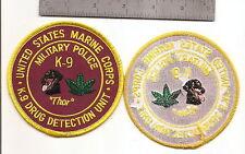 #207 USMC K-9 MP  PATCH DRUG DETECTION UNIT PATCH