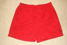 POLO RALPH LAUREN Mens Red/Blue Lined Bathing Swim Shorts Sz XL