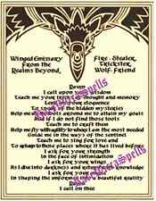 Raven Invocation Prayer Parchment Pg Poster Wicca Book of Shadows New Age Ritual