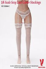 "VERYCOOL VCF2006-C 1/6 White Garter Stockings With Briefs F 12"" Female Body"