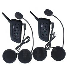 2x 1200M BT Bluetooth Motorcycle Helmet Intercom Interphone Headset V6  6 Riders