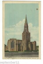 1900's Postcard St. Clare's Church, Shrine Thurs.Holy Hour, Windsor, Ont. Canada