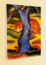 BLAUER REITER POSTER Katze unter einem Baum FRANZ MARC 3 auf Platte aufgezogen