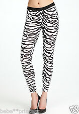 NWT Bebe black white contrast zebra print sexy dress legging XS 0 2 party hot