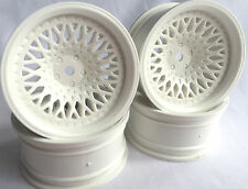 Rc Car 1/10 Drift FM Spoke Rim Wheel 9mm Offset fit Tamiya HPI 12mm hex WHITE 4