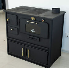 Woodburning Cooking Stove with Oven and Cast Iron Top PROMETEY 8 kW - PRAKTIK