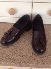 DR MARTENS AIR WAIR BURGUNDY/BROWN LOAFERS UK SIZE 3 NWOB TIRED ON ONLY
