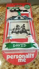"NIP Personally Me ""David"" Personalized Picture Frame Easel Christmas Ornament"