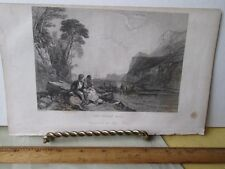 Vintage Print,INDIAN MAID,Engraving,Godeys Ladys Book,1840