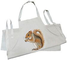 Squirrel - Natural (Cream) Cotton Drill Child's Apron