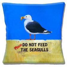 "Vintage Classic Retro Please do not feed the Seagulls 16"" Pillow Cushion Cover"