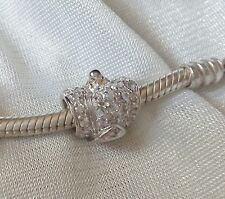 Abalorio/charm/bead  CORONA REAL plata 925  CZ  (european bracelet  ROYAL CROWN)