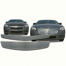 Top+Bottom Chrome Grille Overlay for 2008-2012 Chevy Malibu LS / LT / LTZ