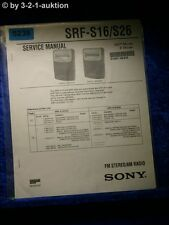 Sony Service Manual SRF S16 /S26 Radio  (#5238)