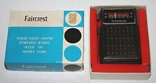 NOS VINTAGE FAIRCREST Solid State Portable AM/FM-AFC Radio Model FA100 FREE ship