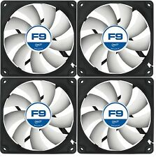 Arctic F9 92mm 4 Pack 3 Pin PC Case Fan - Rev 2 - Silent, High performance