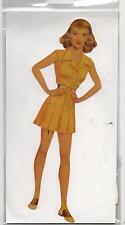 Poupée en carton à habiller. BETTE DAVIS Paper Doll. Hauteur 20 cm. Made in USA