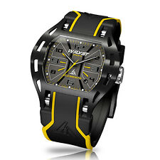 Yellow Swiss Watch Wryst Elements PH4 for Sport, Black DLC Coated, Limited Serie