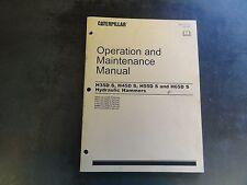 Caterpillar CAT H35D S  H45D S  H55D S H65D S Hammer Operation & Maint Manual