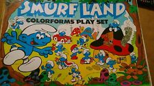 Smurf Colorforms Playset Smurfland Vintage 80's Awesome