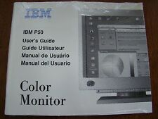 IBM P50 COLOR MONITOR USER'S GUIDE SOFTCOVER NEW & WRAPPED
