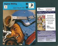 Jean-Claude Killy signed 1970s Sportscaster card JSA Authenticated Alpine Skier