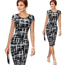 Womens Bandage Bodycon Short Sleeve Evening Party Pencil Dress Plus Size 6-20