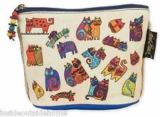 Laurel Burch Karly's Cat Mini Organizer Bag Makeup Art Crafts Pencil Sewing Meds
