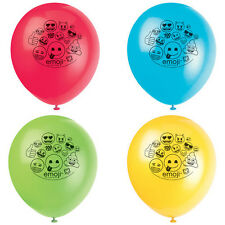 EMOJI LATEX BALLOONS (8) ~ Birthday Party Supplies iPhone Android iOS Texting