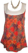 NEW LADIES WOMANS HOLIDAY SUMMER SUN SEXY ORANGE/W POPPY TOP PLUS SIZE 22/24 UK