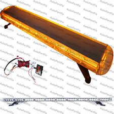 "48"" 88 LED Amber Emergency Warning Truck Strobe Light Roof Bolt Tow Bar"
