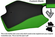 GREEN AND BLACK CUSTOM FITS APRILIA RS4 125 11-12 FRONT LEATHER SEAT COVER