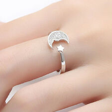 Exquiste Star Moon Finger Ring Adjustable Opening Lovely Fashional Oranments Bij
