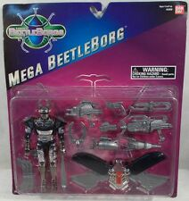 Beetleborgs Mega Silver Beetleborg With Many Accessories By Bandai (MOC)