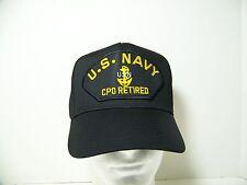 #1483 US NAVY USN E-7 CPO RETIRED Ballcap Cap Hat