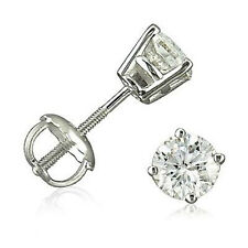 WoW LoW £! - GENUINE AGL CERTIFIED DIAMOND STUDS 14CT GOLD! - LIMITED STOCK!