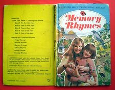 Memory Rhymes vintage Ladybird book children interaction reading nursery 5-9 yrs