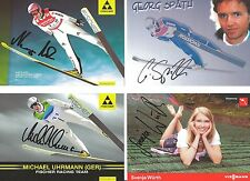 4 Autogramme Svenja Würth Michael Uhrmann Neumayer Georg Späth  LOT Skispringer