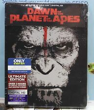 NEW DAWN OF THE PLANET OF APES 3D+2D BLU-RAY+HD ULTRAVIOLET METALPAK! BEST BUY