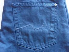 SEVEN 7 FOR ALL MANKIND MENS STANDARD COATED DARK BLUE SLIM JEANS SIZE 29 NEW