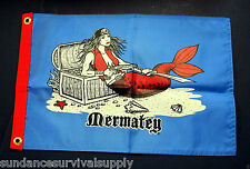 Mermatey pirate flag scuba dive equip novelty valentines GIFT12x18 mermaid #521