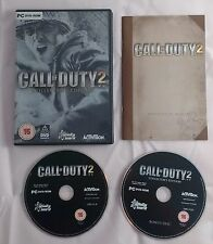 CALL OF DUTY 2 II COLLECTORS EDITION 2 DISCS PC + INSTRUCTION MANUAL COD2 COD