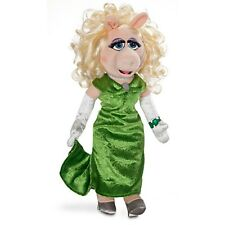 Disney MISS PIGGY Muppet Plush Stuffed Animal Green Dress Pig Doll Toy Gift Girl