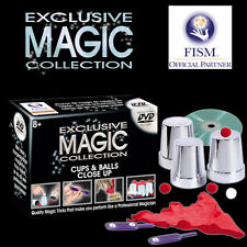 NEW IN BOX Exclusive Magic Cups & Balls / Paddles / Hanky Trick Tricks Set / DVD