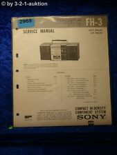 Sony Service Manual FH 3 Compact Component System (#2969)