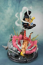 One Piece Gear fourth Luffy VS Donquixote Doflamingo Guild Wars Resin Statue-new