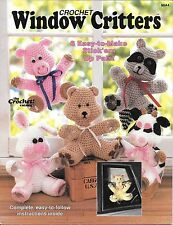 Crochet PATTERNS WINDOW CRITTERS 6 Stick'em Up Pals 1988 Crochet Catalog