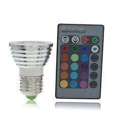 5W E27 Multi Color Change RGB LED Light Bulb Lamp with Remote Control HY